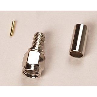 RP SMA Male Coax Connector for LMR 195 RG 58 RG 171 Coaxial Antenna RF Cable   Reverse Polarity SMA Connector: Electronics