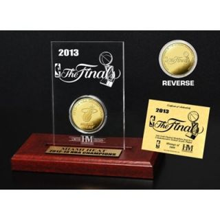 Miami Heat 2013 NBA Finals Champions 24kt Gold Coin Etched Desktop Acrylic Display