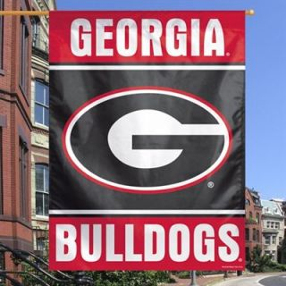 Georgia Bulldogs 27 x 37 Vertical Banner One Sided Flag   Red/Black