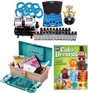 Airbrush Depot KIT CAKE 196C COMMERCIAL 6 AIRBRUSH CAKE KIT ABD / MAS Arts, Crafts & Sewing