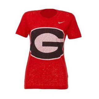 Nike Georgia Bulldogs Womens Chill In Burnout T Shirt