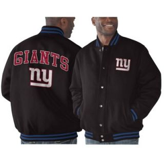 New York Giants Playoff Button Up Jacket   Black