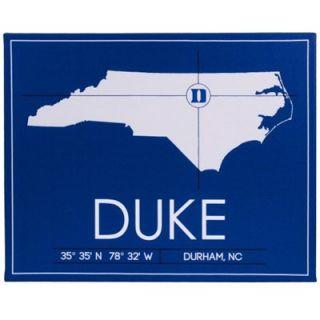 Duke Blue Devils 20 x 25 University Map Canvas Wall Art