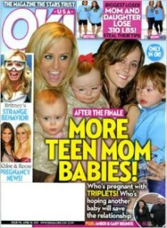 OK April 18 2011 Teen Mom Babies & Moms on Cover, Britney Spears' Strange Behavior, Biggest Loser Mom & Daughter Tips Books