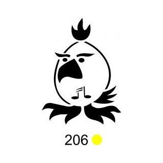 Tattoo Stencil   Bird with Music Note   #206: Health & Personal Care