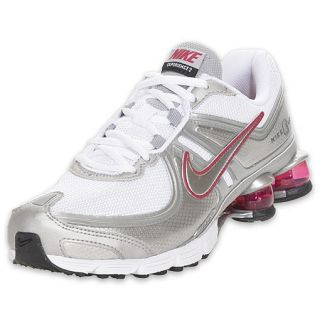 Nike Women s Shox Experience + 2 Running Shoe White Silver Pink on ... 3ab906cd8