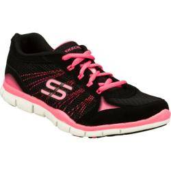 Women's Skechers Gratis Ring Leader Black/Pink Skechers Sneakers
