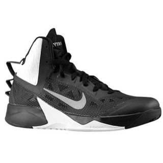 Nike Zoom Hyperfuse 2013   Mens   Basketball   Shoes   Black/Metallic Silver/White