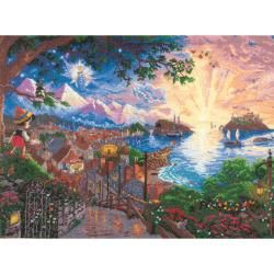 Disney Dreams Collection By Thomas Kinkade Pinocchio Wishes MCG Textiles Cross Stitch Kits