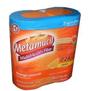 Metamucil Multi Health Fiber Natural Psyllium Powder Orange Smooth Flavor 228 Doses Per Order   Metamucil Sugar Free   228 doses