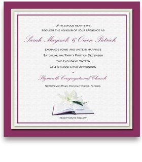 225 Square Wedding Invitations   Our Bible : Party Invitations : Office Products