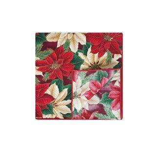 Crimson Napkin by Rose Tree Christmas Evergreen 18 inch Napkins (Set of 6) Table Linens