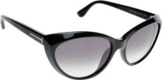 Tom Ford Martina FT0231 Sunglasses 01B Black (Gray Gradient Lens) 59mm: Shoes
