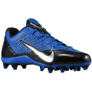 Nike Alpha Pro Low TD   Mens   Football   Shoes   Black/Metallic Silver/Sport Royal