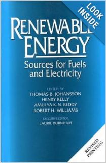 Renewable Energy: Sources For Fuels And Electricity (9781559631396): Thomas B. Johansson, Henry Kelly, Amula K. N. Reddy, Robert Williams, Alan Douglas Poole, Richard L. Bain, Al Cavallo, Eric D. Larson, Isais C. Macedo, Allen M. Barnett, Eldon Boes, Sigur
