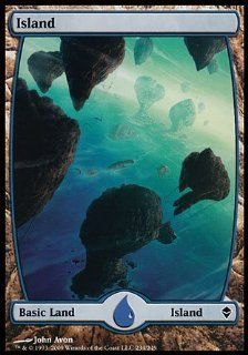 Magic the Gathering: Island (234) (Foil)   Zendikar: Toys & Games