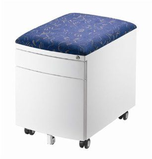 SJ235 2 Drawer Cushion Top Mobile File Cabinet   Blue   Childrens Bookcases