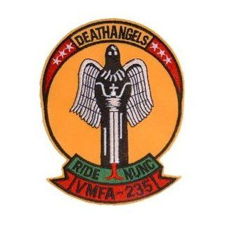 USMC Marine Corps Military Embroidered Iron On Patch   Death Angels Ride NUNC VMFA 235 Applique: Clothing