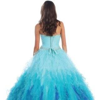 Ball Gown Formal Prom Strapless Ruffled Wedding Dress #237 at  Women�s Clothing store