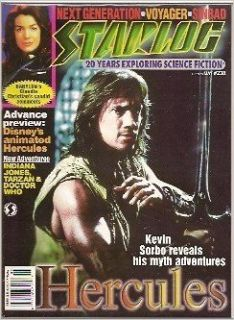 Starlog #238 (NM) Kevin Sorbo Hercules, Indiana Jones, Doctor Who Mag Books