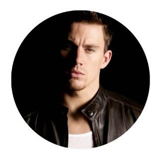 Custom Channing Tatum Mouse Pad Standard Round Mousepad WP 241 : Office Products