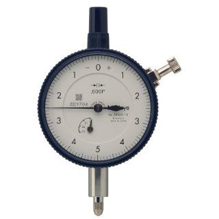 "Mitutoyo Dial Indicator, Inch, #4 48 UNF Thread, 0.375"" Stem Diameter: Industrial & Scientific"
