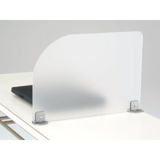"Desk Divider, Clamp on Frosted Acrylic Office & Classroom Privacy Partition 29"" X 12"": Electronics"
