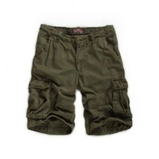 "Match Men's Solid Multi color Camo Cargo Shorts #S3582 (W36""(92cm 94cm), Army Green): Clothing"