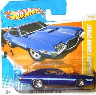 2011 Hot Wheels '72 FORD GRAN TORINO SPORT (Metallic Blue) #2/244, 2011 HW Premiere #2/50 (SHORT CARD): Toys & Games