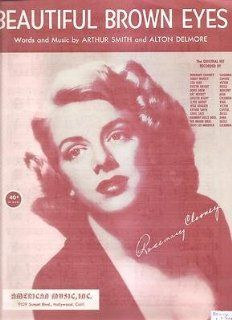 Sheet Music 1951 Beautiful Brown Eyes Rosemary Clooney 248 : Prints : Everything Else