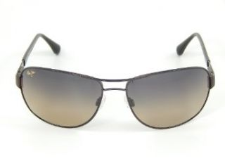 New Maui Jim Sand Island HS253 25A Gloss Dark Brown/HCL Bronze Polarized Sunglasses: Clothing