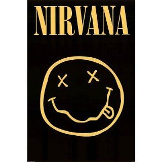 (24x36) Nirvana (Smiley Face) Music Poster Print