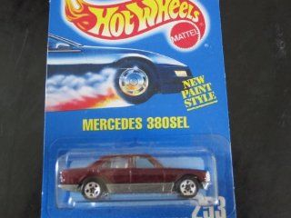 Mercedes 380SEL all Blue Card Hot Wheels #253 Purple with 5 Spoke Wheels: Toys & Games