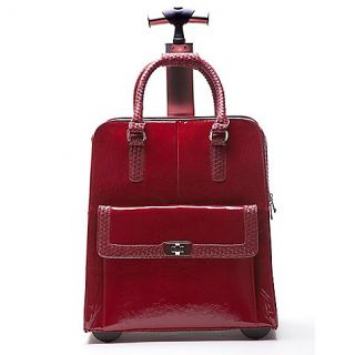 Buy Hand Accessories Jacqueline Trolley Bag with 360 Degree Wheels in Crimson Rose from