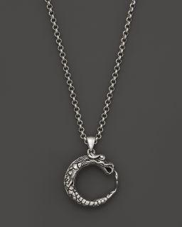 "John Hardy Batu Naga Silver Dragon Pendant on Chain Necklace with Rubies, 18""'s"