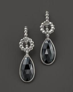 John Hardy Bedeg Silver Batu Small Teardrop Earrings with Hematite's