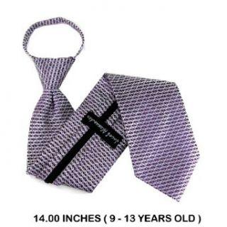 B ZIP 8810   Purple   Silver   Boys Zipper Tie Clothing