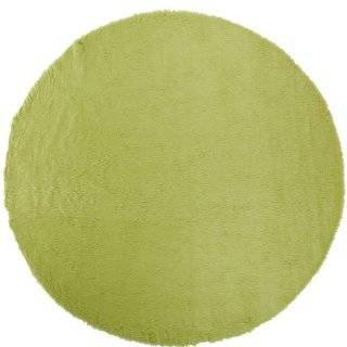 Faux Sheepskin Area Rug, 8' Round, Lime   Faux Fur Rugs