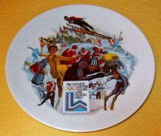 THE OFFICIAL 1980 OLYMPIC WINTER GAMES PLATE The Official Commemorative Plate of the XIII Olympic Winter Games in Lake Placid