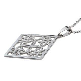 ISHOW New Design Silver 304 Stainless Steel Square Shape Pendant Necklace ,Free Shipping: Jewelry