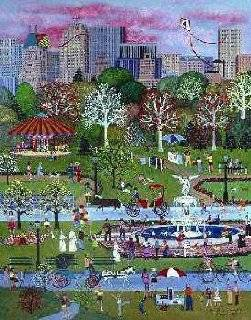 Jane Wooster Scott   Springtime in Central Park Remarque Edition   Prints