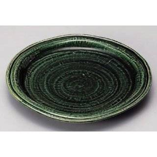sushi plate kbu282 21 642 [6.82 x 1.11 inch] Japanese tabletop kitchen dish Round platter Oribe ball Fuchi 17 cm dish [17.3x2.8cm] Japanese restaurant inn restaurant business kbu282 21 642: Kitchen & Dining
