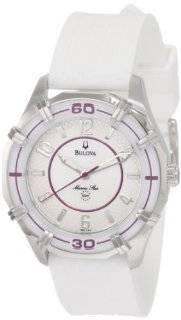 Bulova Women's 96L144 Solano Marine Star Rubber Watch: Bulova: Watches