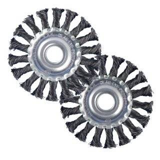 Ansen Tools AN 291 4 Inch Knotted Wire Wheel Brushes, 2 Piece: Home Improvement