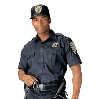 Mens Shirt   Uniform Short Sleeve, Navy Blue by Rothco Sports & Outdoors