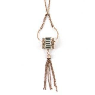 Stainless Steel Rose Gold Color Barrel Shape Bead Fashion Pendant Necklace in Multiple Crystals   4'' Dangle Pendant and 19'' Necklace with 2'' Extender: Jewelry