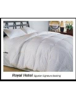 California King Size Down Comforter 300 Thread Count Siberian Goose Down Comforter 100 percent Egyptian Cotton 300 TC   600FP   40Oz   Stripe White Down Comforter   Cal Down Comforter