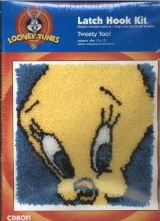 """Looney Tunes Latch Hook Kit   Tweety Too 13"""" by 13"""""""