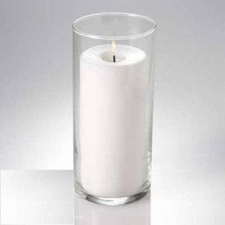 Glass Cylinder Pillar Candle Vase 7.5 Inch Centerpieces: Everything Else