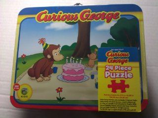 Curious George Birthday Wish 24 Piece Puzzle in Lunch Box Tin: Toys & Games